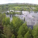 Разлив Десны за плотиной